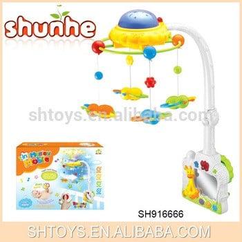 音乐投影婴儿床玩具RC婴儿移动玩具的孩子