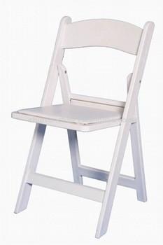 廉价婚礼酒店白色树脂温布尔登前卫衬垫折叠椅