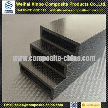 由专业厂家制造的高强度矩形碳纤维管