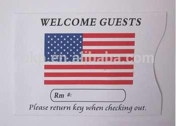 迷你酒店钥匙卡信封
