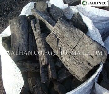 硬材木炭从gazuarina树