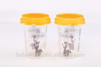 一次性塑料杯,透明塑料杯,牛奶,果汁,茶和咖啡,冰淇淋
