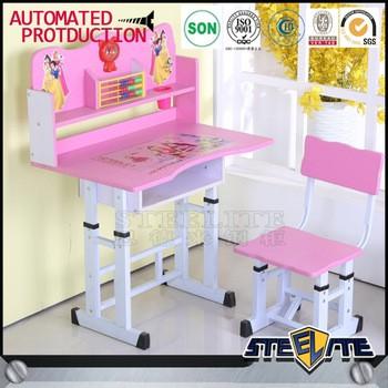 便宜的高度可调节的儿童桌学生学习桌儿童书桌和椅子学习写作