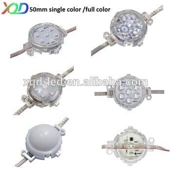 12V/24V 50mm LED RGB像素点SMD5050灯LED像素6-9内球DMX控制IP68的室外照明