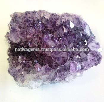 紫晶黄晶簇