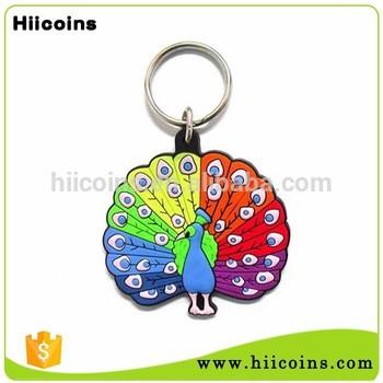 中国批发厂定制钥匙扣PVC橡胶钥匙扣