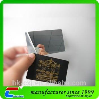 11月11日优质信用卡大小PVC镜面名片