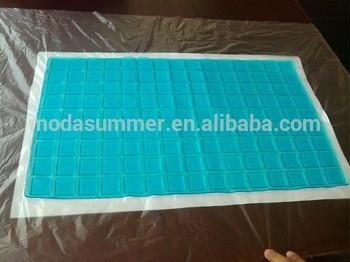 新产品高品质低价格PU凝胶垫,清凉凝胶板为记忆泡沫枕头