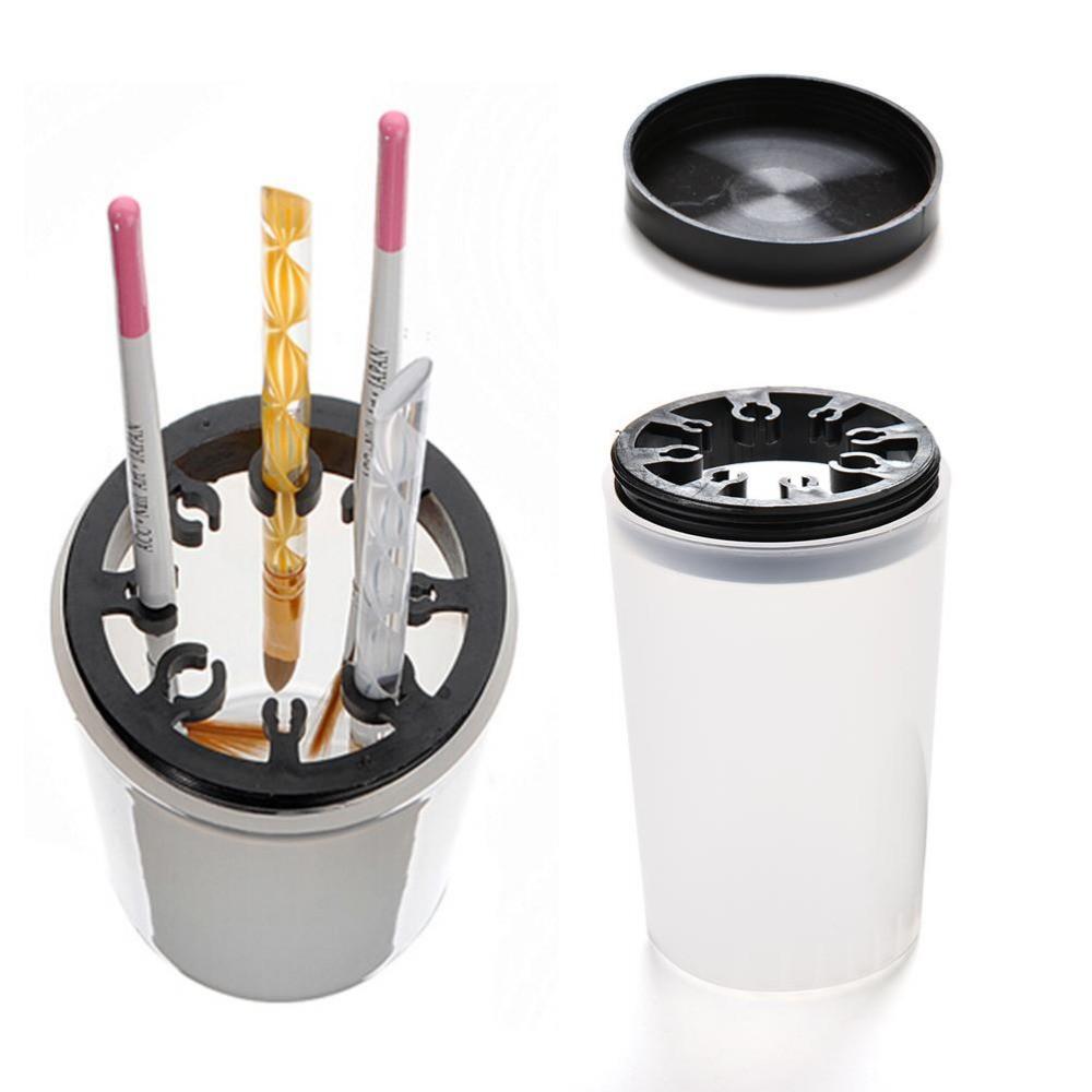 Professional Nail Art Brush Cleaner Holder UV Acrylic Gel Pen