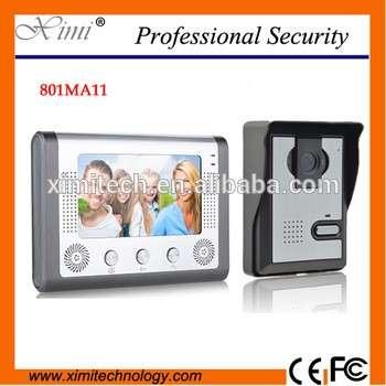 New video 801MA11 7 inch color wired apartment video door ip video door phone