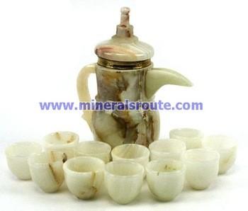 缟玛瑙茶具