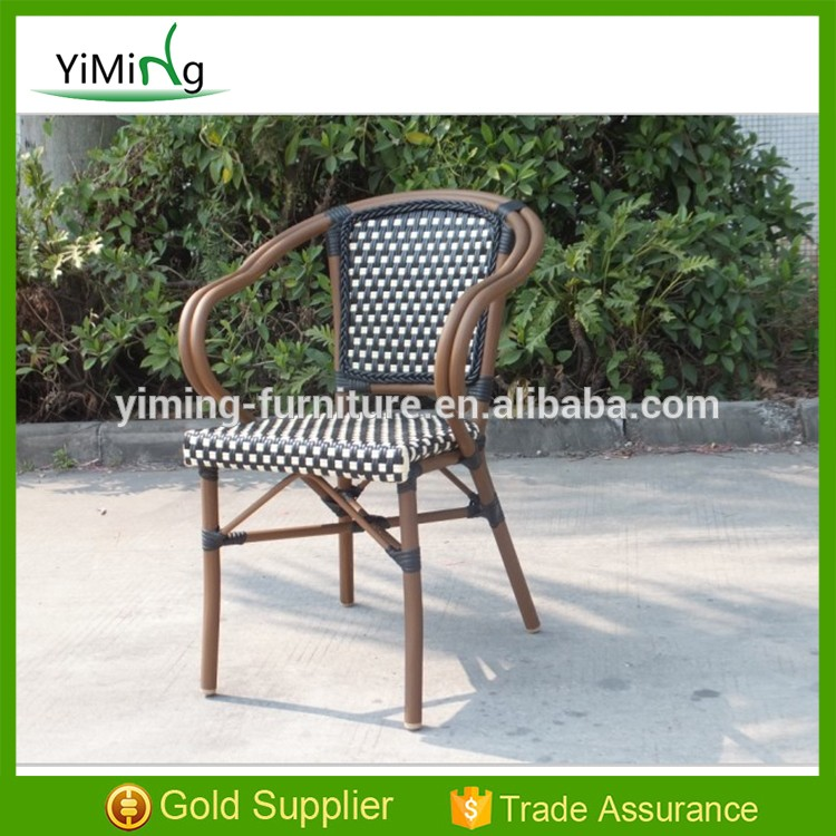 synthetic rattan chair garden wicker dining bamboo outdoor chair