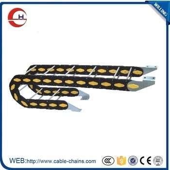 朱蒂数控机床用铝及塑料电缆拖链、电缆托架、电缆轨道