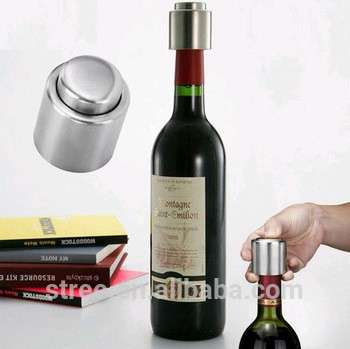 不锈钢真空密封红酒瓶嘴液流塞浇盖厨房酒吧工具葡萄酒瓶塞