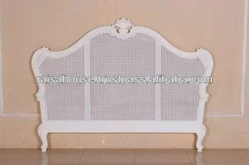 French Furniture - Antique French Rattan Headboard