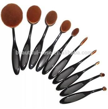 牙刷化妆刷,美人鱼私人标签椭圆形化妆刷套装,化妆刷