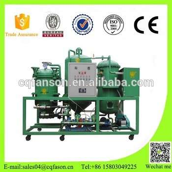 Magnetic field purification technology used oil recycling equipment