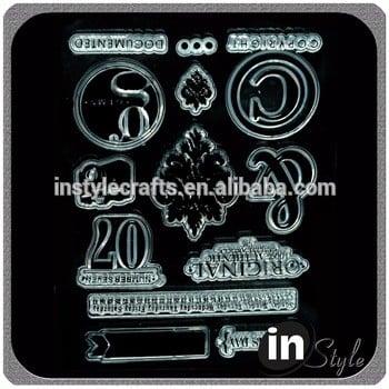 自定义包装的OEM清晰的印章与出厂价格