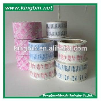 2016定制LOGO印刷热封硅胶纸/干燥剂包装纸