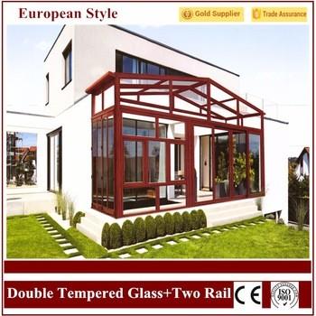 2016欧洲风格的最新设计的铝3.0-3.5mm花园的玻璃房子