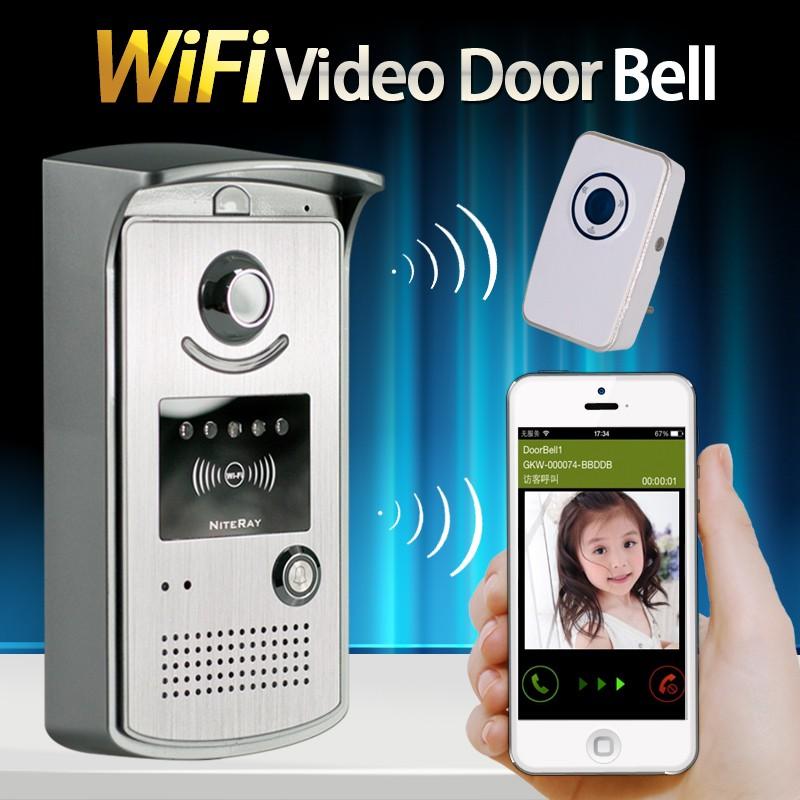 Wireless Video Door Phone Wifi 3G 4G Doorbell Camera +Indoor
