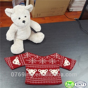 ed2b27d27 Desiny Bear Plush Toy s Wear Decoration Funny Knitted Clothes Knitted  Sweater