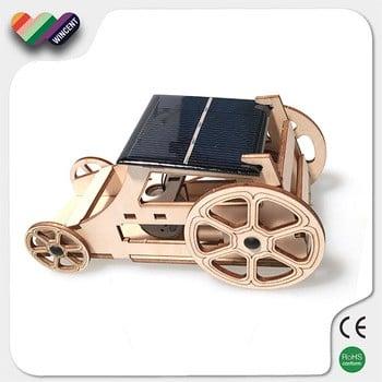 儿童教育装配木车太阳能玩具