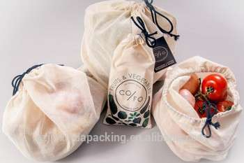 Organic Cotton Rice Bean Bags, Vegetables, Grains Bags