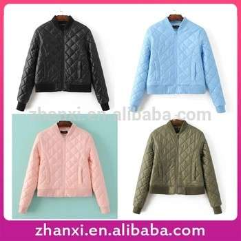 Wholesale new design plain short cotton padded jacket women down coat 2016
