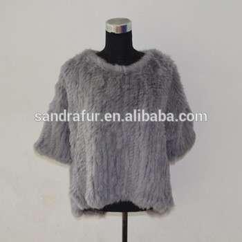 c97a65367 SJ490-01 New Arrival Canada Designer Free Size Rabbit Knit Sweater Woman