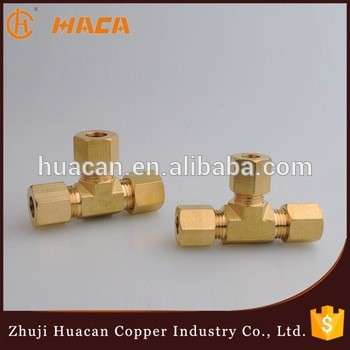 6mm Brass Double Ferrule Compression Tee Fittings Union Connect Copper Pipe