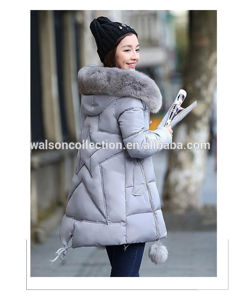 2017 Winter Women Jacket Long Down Jacket Padded Coat Ladies Slim Hooded Parka women winter coats