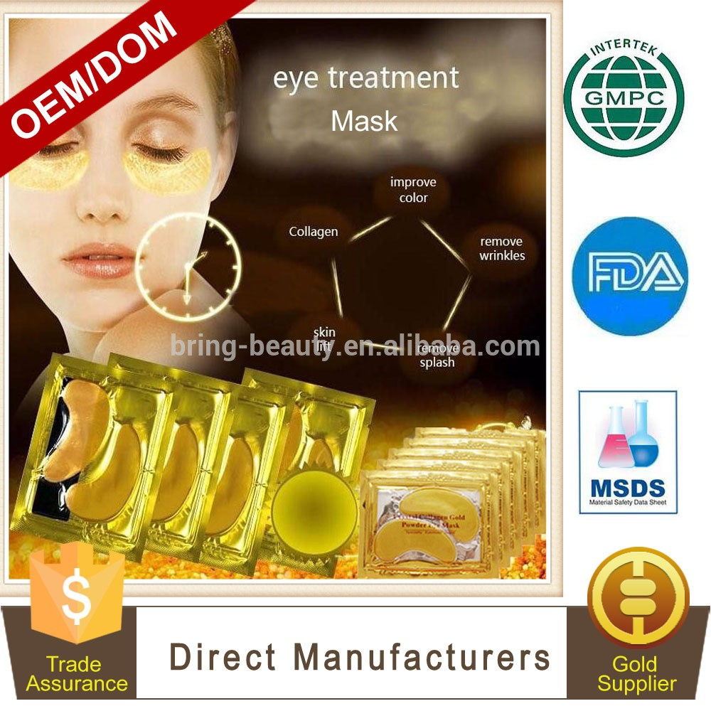 OEM / ODM胶原蛋白水晶眼膜现货金粉
