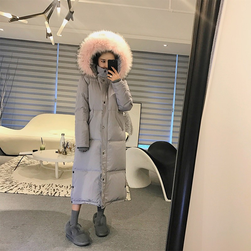 2016 new winter coat women fashion long down jackets fur collar coats Korean style coats C59