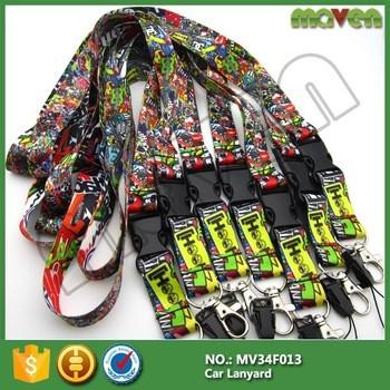 赛车JDM炸弹挂绳可伸缩的ID徽章汽车摩托车运动队带