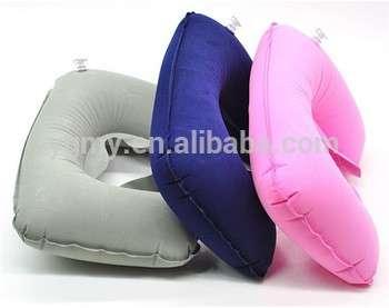 空气充气枕u形颈枕充气充气旅行火车旅行枕