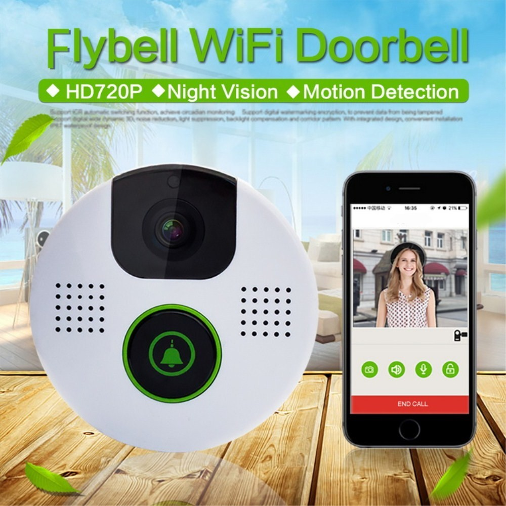 New Tiny Apartment wifi video door phone with alarm function personal video doorbell for home