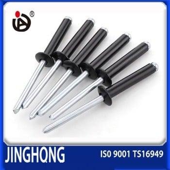 工厂提供圆头黑色铝铆钉