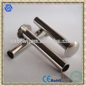 镍板管状铆钉,半空心铆钉热销平板