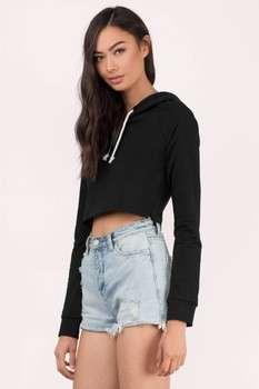 Custom Women Crop Hoodies Fashion Crop Sweatshirts Bulk Cheap Hoodies And  Sweatshirts bfb3d4a994