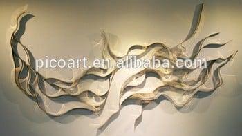 现代3D金属雕塑墙装饰中国供应商的金属墙艺术