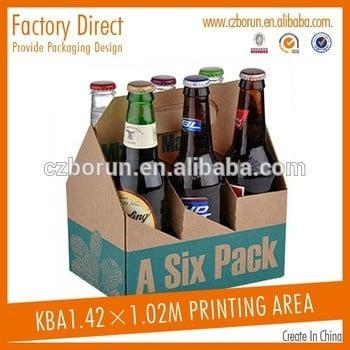 高质量六包啤酒包装箱的制造在中国