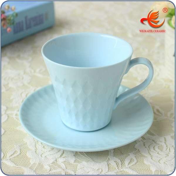 WKTM030B Custom Printed Tea Cups And Saucers,new Shaped Espresso ...