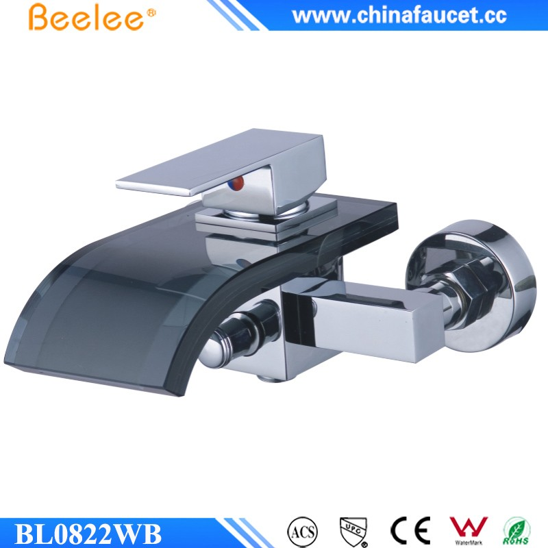 Beelee BL0822WB Hotel Bath Mixer Taps Wall Mounted Glass Waterfall ...