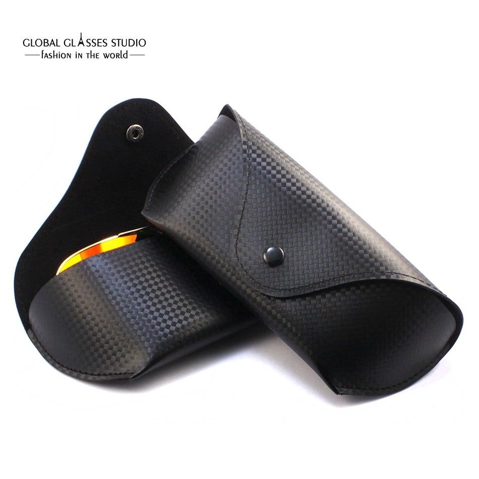 太阳眼镜盒眼镜盒眼镜耐用PU革存储架箱袋黑色170×70×40mm case003