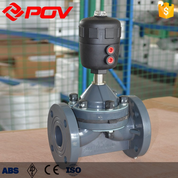 upvc plastic flange connection diaphragm valve 6bar