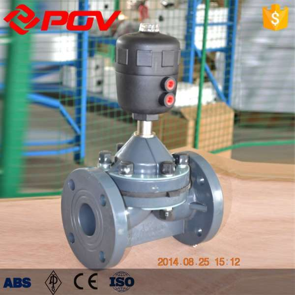 Upvc plastic flange connection diaphragm valve 6bar ccuart
