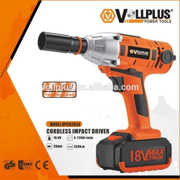 vollplus vpcd2034电动冲击扳手电动扳手设置充电式扭矩扳手