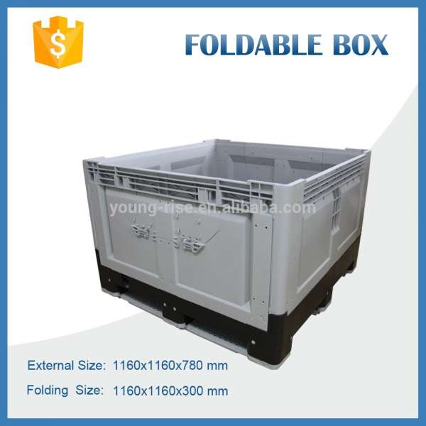 Big Folding Plastic Pallet Collapsible Fruit Crates With High Quality