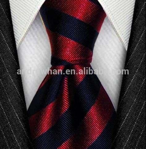 豪华100%丝机织提花条纹图案的领带领带领带七7倍